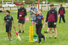 CHAMPIONING CRICKET: Local Rotorua youngsters enjoy playing with guidance from Northern Knights players. PHOTO/STEPHEN PARKER.