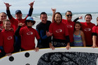 INSPIRING: Parafed Bay of Plenty's adaptive surfing group. PHOTO/SUPPLIED