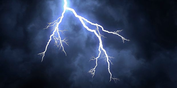 Central Otago has been hit by a huge electrical storm. Picture/123RF
