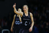 THUMBS UP FOR CHANGE: Laura Langman won't be eligible for the Silver Ferns in 2017 after signing a contract in the Australian league. PHOTO/PHOTOSPORT.NZ