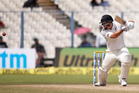 Ross Taylor plays a shot on the second day. Photo / AP