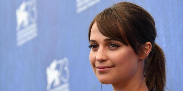 Actress Alicia Vikander says she hasn't acted in scenes with many other women. Photo / AP