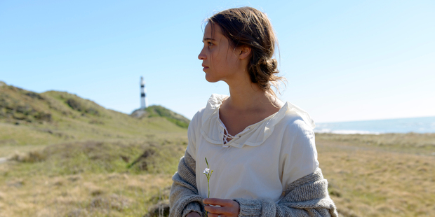 Alicia Vikander in a scene from, The Light Between Oceans. Photo / AP