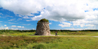 A cairn commemorating the Highlanders who died at the Battle of Culloden in 1746 on the Isle of Skye off the west coast of Scotland. Photo / AP