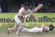 Tom Latham was LBW to Mohammed Shami for 1. Photo / AP