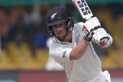 New Zealand's Luke Ronchi plays a shot. Photo / AP