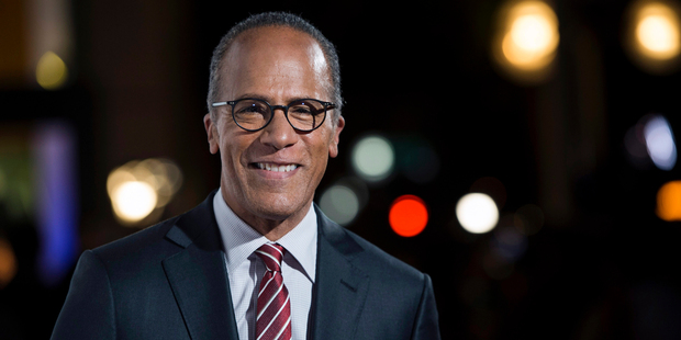 NBC Nightly News anchor Lester Holt. Photo / AP