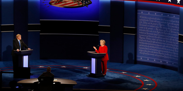 It's thought up to 100 million viewers tuned in to today's historic debate. Photo / AP