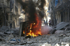 Rebel-held Aleppo had become accustomed to regular airstrikes since rebels seized control of the eastern portion of the city. Photo / AP