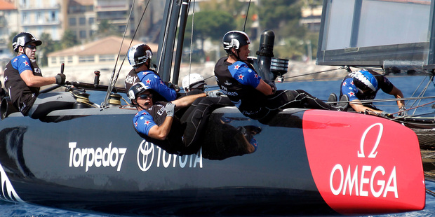 Loading Team New Zealand, in action at the America's Cup World Series event off Toulon, southern France, earlier this month. Photo / AP