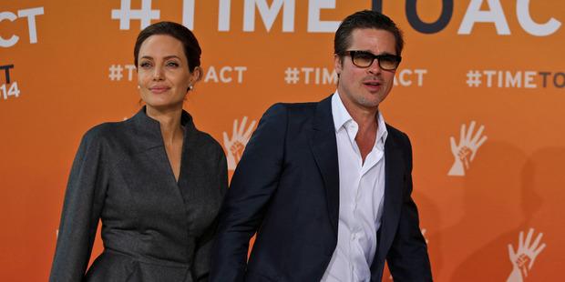 Angelina Jolie and Brad Pitt are heading towards divorce. Photo / AP