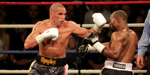 Anthony Mundine in action in the boxing ring in 2011. Photo / Dean Purcell
