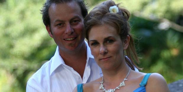 Richard and Samantha Kudeweh, pictured on their wedding day.