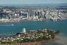 An aerial shot of Auckland City from the Devonport. Photo / Brett Phibbs