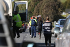 Emergency services at the scene of a crash which seriously injured Shelly Easton and her two young children. Photo/File