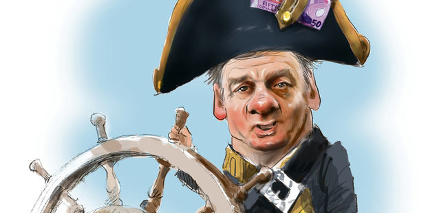 Caricature of Finance Minister Bill English. Illustration / Rod Emmerson