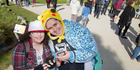 POKEMON: Alexia Goodall (left) and Hine Taylor during the Pokemon Go Walk event for the smartphone app game. PHOTO/FILE