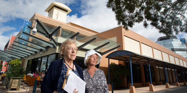 Last year, Rosemary Michie (left) and Anita Stanley, put together a petition to stop plans to build a new children's health hub and combined library facility.