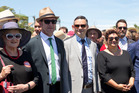 THE FUTURE'S SO BRIGHT: Labour deputy leader Annette King and leader Andrew Little and Green Party co-leaders James Shaw and Metiria Turei at Ratana Pa in January.
