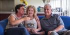 Devora Busch, 47, with her partner Richard Barry, 59, and their daughter, Rheegan Barry, 10. Photo / Michael Craig.