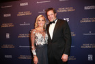 Gemma Flynn with fiance Richie McCaw at the premiere of Chasing Great. Photo / Norrie Montgomery