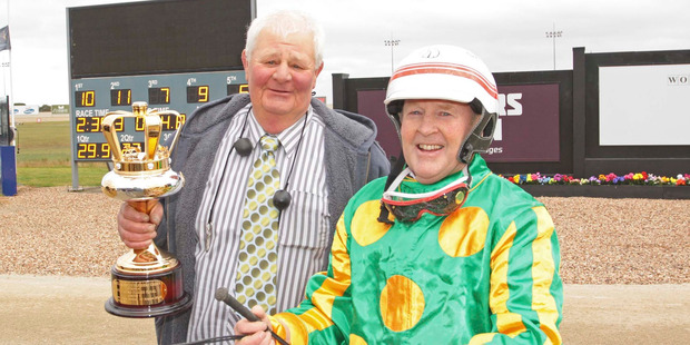 Hughie Green's astute and conservative trainer Brian Hughes (left) doesn't do much to boost punter confidence. Photo / Stuart McCormick