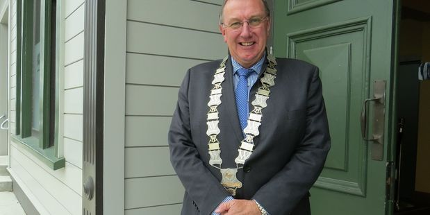 CHB mayor Peter Butler made a final speech at a council meeting today. Photo/File