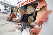 Ram raid burglary at Dargaville Honda Motorcycles earlier this month. Northern Advocate photograph by Michael Cunningham.