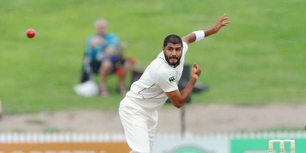 New Zealand's Jeetan Patel. Photo / Ross Setford