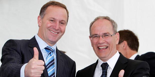 Prime Minister John Key, and Super City Mayor Len Brown. Photo / NZPA