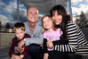 Carl and Meghann Rowling, with children Sam and Isobel, are thriving in Hawke's bay since their move from Auckland PHOTO/PAUL TAYLOR