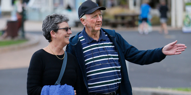 Australian tourists Bob and Janine Kennedy visit the Whangarei Town Basin, on their way to the Bay of Islands. PHOTO/JOHN STONE