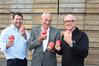 FRUITFUL: Pipfruit New Zealand directors Cameron Taylor (left), Peter Beavan and Bruce Beaton. PHOTO FILE