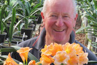 Ian Duncalf with Clivia Barbara, named for his wife. Photo/supplied