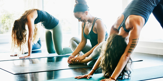 Yoga, meditation and good sleep (no caffeine or alcohol before bedtime, and keep the bedroom cool, dark, quiet and screen-free) are all crucial to fight against belly fat. Photo / Getty Images