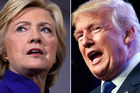 Democrat Hillary Clinton and Republican Donald Trump will face off tomorrow at the first of three presidential debates. Photos / AP