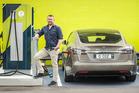 Tesla electric car owner Martin Minehan.