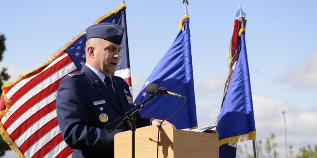 Air Force Col. Eugene Marcus Caughey, formerly vice commander of the 50th Space Wing, was found dead at his Colorado Springs home Sunday. Photo / Christopher DeWitt/U.S. Air Force