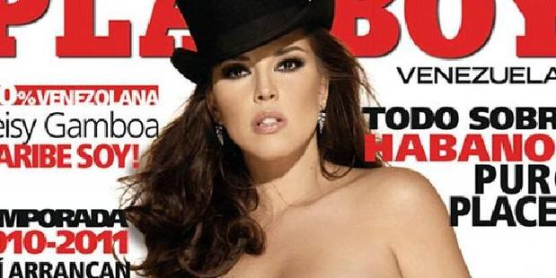 Machado became the first Miss Universe winner to pose for Playboy.