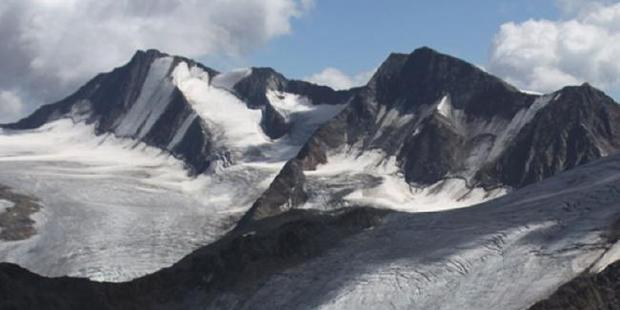 The Alps where Otzi was found.