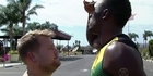 Watch: Watch: James Corden race Usain Bolt for the title of fastest man on Earth