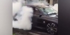 Watch: Watch: Dad allows 5-year-old son to perform burnouts