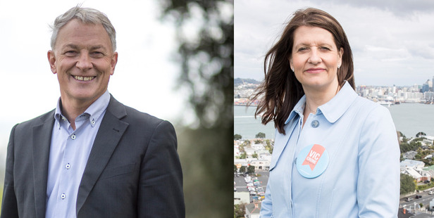 Auckland Mayoral candidates Phil Goff and Victoria Crone. CEOs say improving public transport should be a focus for the next Mayor of Auckland.