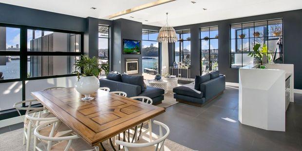 The Wharf Birchgrove's living area. Photo / Supplied