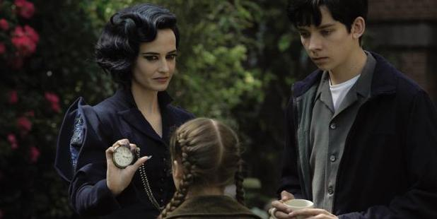 Miss Peregrine runs a tight ship with two of her peculiar children - played by Georgia Pemberton and Asa Butterfield. Photo / Twentieth Century Fox
