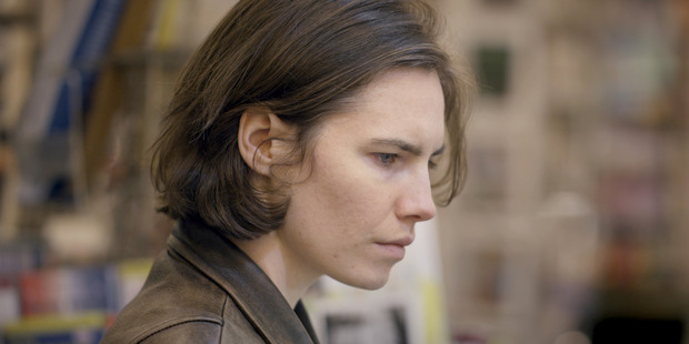 Loading Amanda Knox in the Netflix documentary about her and the 2007 murder she was accused of. Photo / Netflix