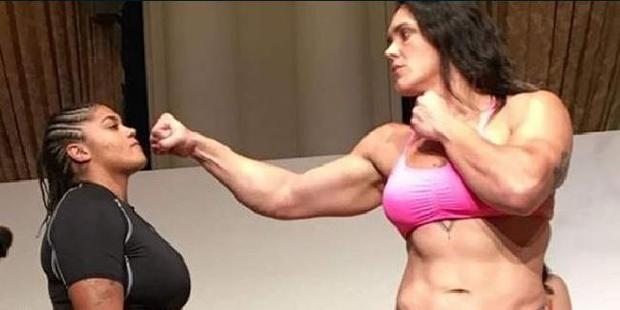 Gabi Garcia enjoyed a ridiculous height and reach advantage over her most recent opponent. Photo / news.com.au