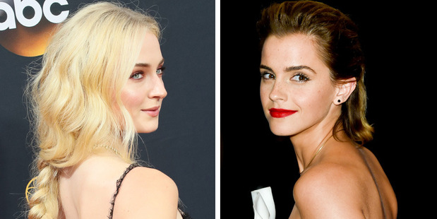 Sophie Turner and Emma Watson. Photos / Getty Images, AP