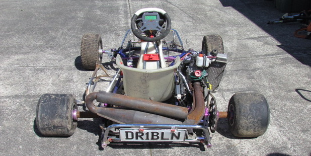 Police want to reunite this stolen go-kart with its owner.