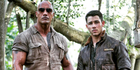Dwayne Johnson shared a picture on social media of Nick Jonas joining the Jumanji cast. Photo / Instagram